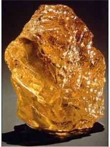世界最大の黄色原石